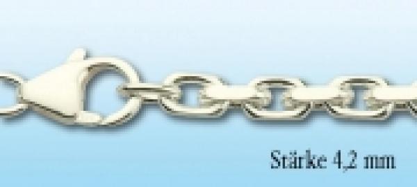 Collierkette Ankermuster Silber, 4,2mm stark