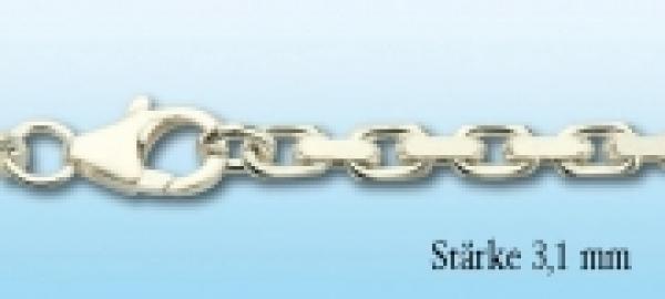 Collierkette Ankermuster Silber, 3,1mm stark