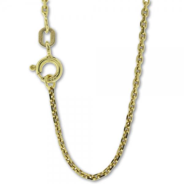 Collierkette Ankermuster Silber gelbvergoldet, 1,5mm stark