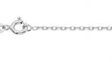 Collierkette Anker geschliffen, Silber rhodiniert, 1,7mm stark