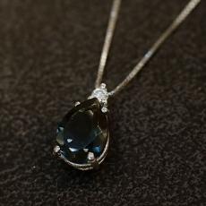 Diamantanhänger mit Topas