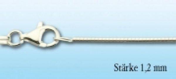 Omegareif Silber rhodiniert, 1,2mm stark