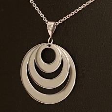 Anhänger Silber, 3fach Ring für Gravuren