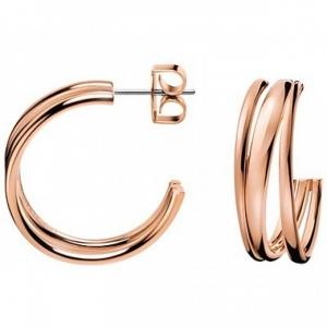 Calvin Klein sumptuos Creolen rosé