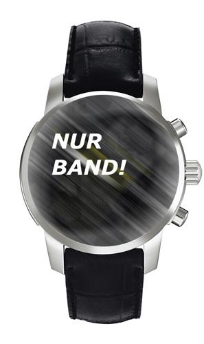 Tissot Originalband Leder schwarz für PRC200 Chronograph