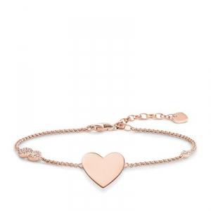 Glam & Soul Armband Herz mit Infinity rosé (Gravur gratis)