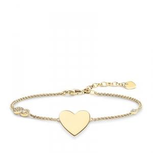Glam & Soul Armband Herz mit Infinity gelb (Gravur gratis)