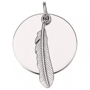 Anhänger Feder, mit Gravurmöglichkeit, 925 Sterling Silber