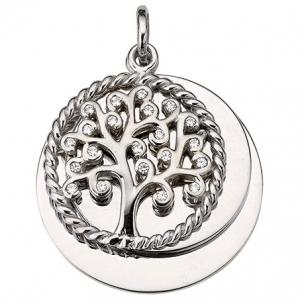 Anhänger Lebensbaum mit Gravurmöglichkeit, 925 Sterling Silber