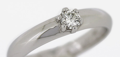 Solitärring, 585 Weißgold mit Diamant 0,10ct