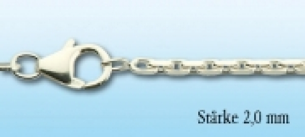 Collierkette Ankermuster Silber, 2,0mm stark