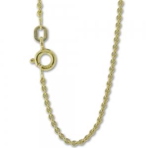 Collierkette Rundankermuster Silber gelbvergoldet, 1,45mm stark