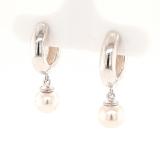 Klappcreolen, Silber 925 mit Perlen