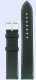 Tissot Originalband Leder schwarz mit Dornschließe, 19/18mm