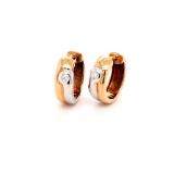 Creolen, 585 Gelbgold und Weißgold mit Diamanten