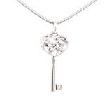 Schlüssel, Weißgoldanhänger mit Diamanten