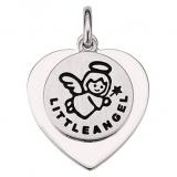 Anhänger Herz mit Schutzengel, mit Gravurmöglichkeit, 925 Sterling Silber
