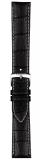 Tissot Originalband Leder schwarz mit Dornschließe, 20/18mm