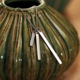 Kette mit Anhänger Silber, 3fach Stäbe für Gravuren