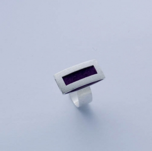 Allaxo Rechteck Ring groß längs zum Finger ALX-16761