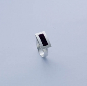 Allaxo Rechteck Ring mini quer zum Finger ALX-16764