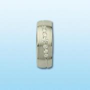Partnerring Damen Silber 925, rhodiniert