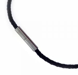 Kette Leder 3,0 mm mit Edelstahlschließe