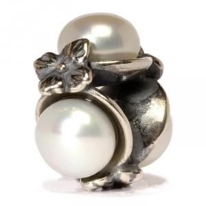 Dreifach Perle, weiß