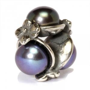 Dreifach Perle, schwarz